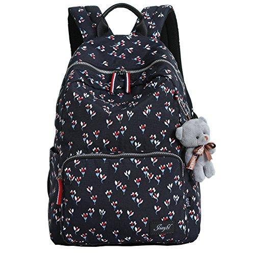 (Mocha weir JIAYBL Ladies Backpack Laptop Backpack College Shoulders Bags Children School Book Bags Girls Travel Canvas Backpack (Small)