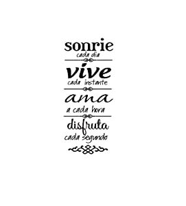 Sonrie Vive Ama Wall Decal Home Background Decor Wall Art Sticker