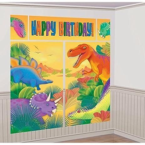 Amazon.com: Dinosaurs ( Prehistoric Party ) Scene Setter Wall ...