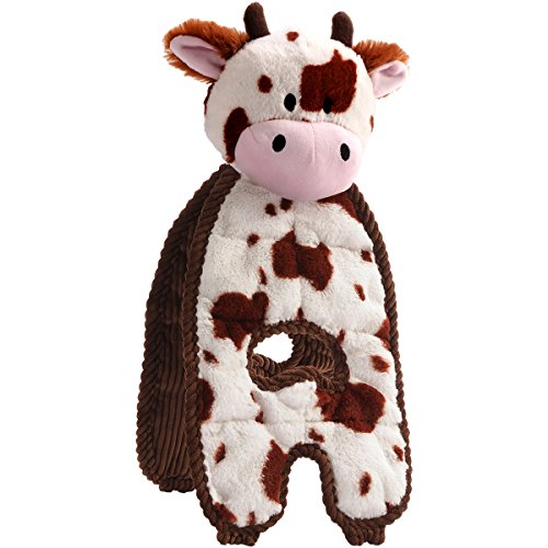 Charming Pet Cuddle Tugs Pet Squeak Toy, Cow