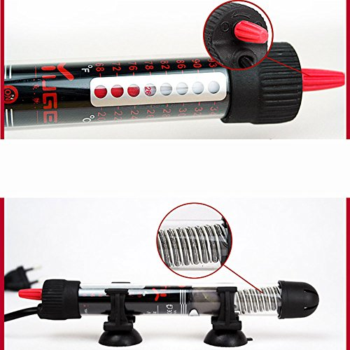 Calentador sumergible de calefacción para Acuario ajuste de la temperatura 50W: Amazon.es: Hogar