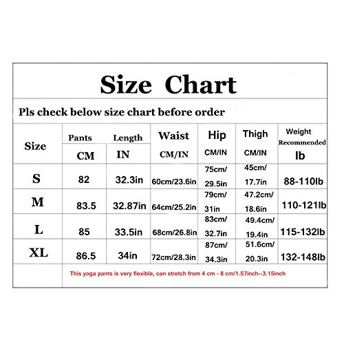 6cb3546034bd5 Befullo Women's Yoga Pants Capri Legging Workout Gym Tights ...