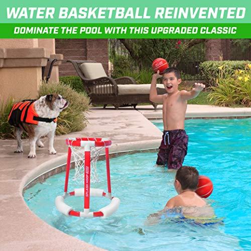 51tGe53n9LL - GoSports Splash Hoop 360 Floating Pool Basketball Game | Includes Water Basketball Hoop, 2 Balls and Pump