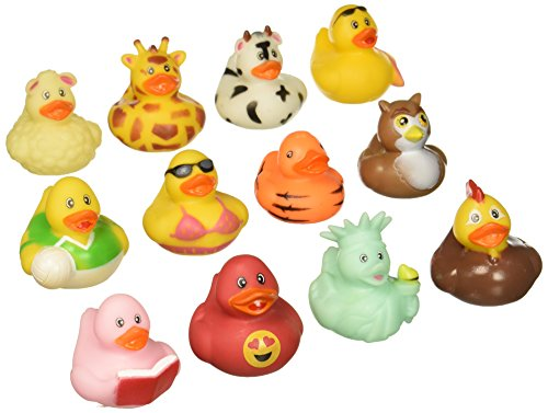 Fun Express Rubber Duck 100 pc Mega Ducky Duckie Assortment -