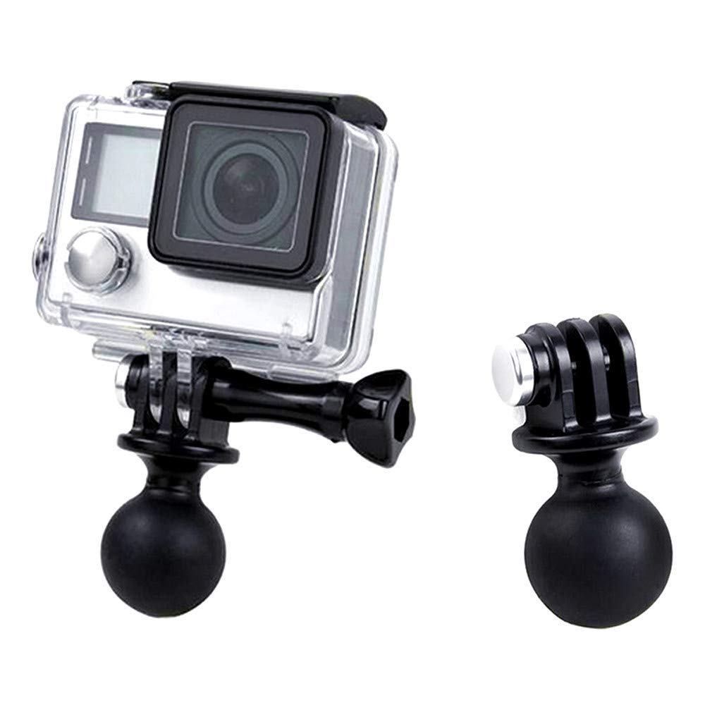 WLPREOE 1 Ball Head Mount Adapter with Thumb Screw for GoPro Hero 7 6 5 4 3 3 Black Silver White Session DJI Osmo Action AKASO,TENKER,DBPOWER Sports Camera compatiable with Standard RAM Mount