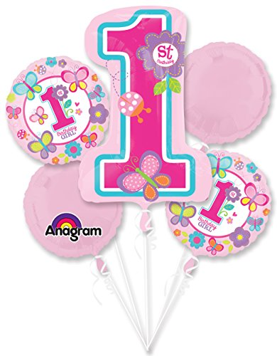 Original Sevens Costume Ideas (Sweet 1st Birthday Girl Balloon Bouquet (Each) - Party Supplies)
