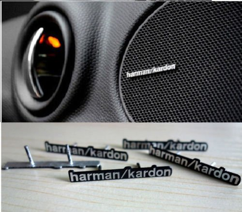 2 x Aluminium Harman Kardon Lautsprecher Logo Pin Badge BMW Mini Benz Audi CARDOCTOR4YOU