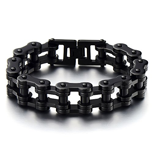 Masculine Black Bracelet Stainless Polished product image