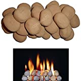 ! 10 Gas fire Ceramic Pebbles Replacements/Bio Fuels/Ceramic (BEIGE) IN COALS 4 YOU PACKING by COALS 4 YOU