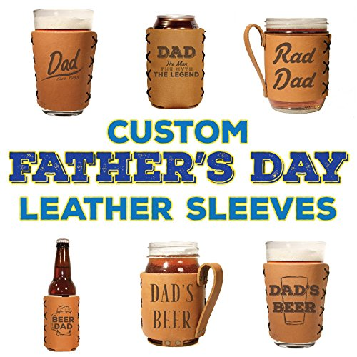 Personalized Leather Holders for Father's Day - Choose your product and Choose your design! ()