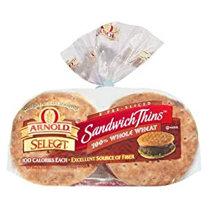 Arnold's Select Sandwich Thins - 100% Whole Wheat, 8 ct. bag (Pack of 4)
