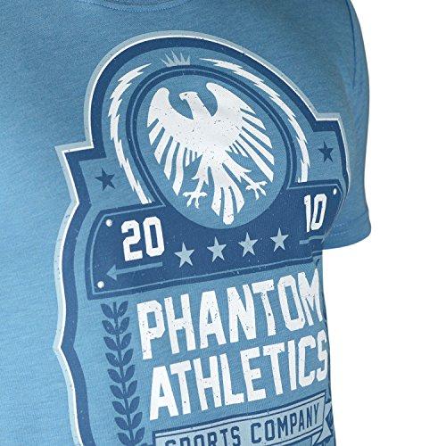 "Phantom Athletics T-Shirt ""Classic"" - Blue - Sport Freizeit Gym Lifestyle Shirt Herren"