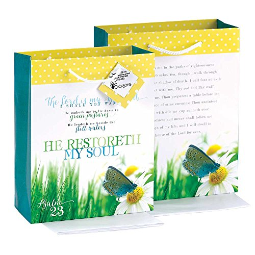 He Restore My Soul Yellow Polka Dot Medium Tissue Paper and Gift Bags with Handles 3 - My Studio 23