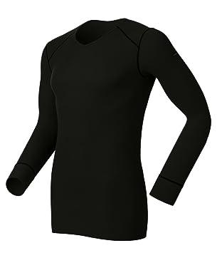 Odlo Sous-vêtement à manches longues et col V pour homme Noir noir ... f66f87f6bb76