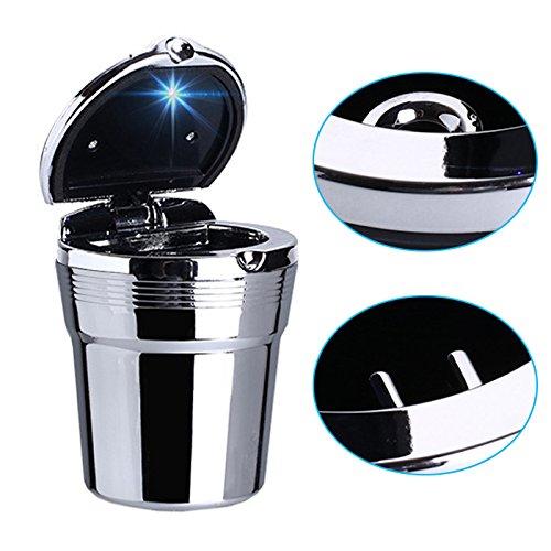 Aluminiumlegierung und Kunstoff R24 KFZ Autoaschenbecher Aschenbecher LED Beleuchtung Getr/änkehalter Glutt/öter