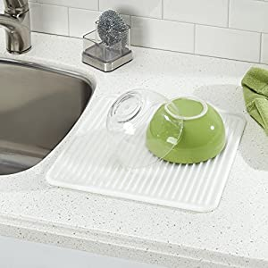 InterDesign Lineo Kitchen Countertop Silicone Sink Drying Mat - Large