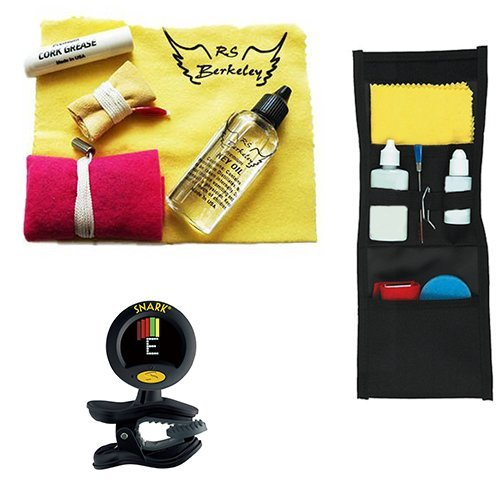 Marching Band Buddy for Bass Clarinet - with BONUS Snark Instrument Tuner - Essential Travel Cleaning Care & Maintenance Pack for Bass Clarinet Players