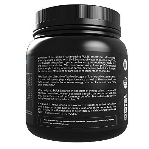 Legion Pulse Pre Workout Supplement - All Natural Nitric Oxide Preworkout Drink to Boost Energy & Endurance. Creatine Free, Naturally Sweetened & Flavored, Safe & Healthy. Fruit Punch, 21 Servings.