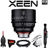 Rokinon Xeen 85mm T1.5 Lens for Canon EF Mount with Professional Accessory Kit