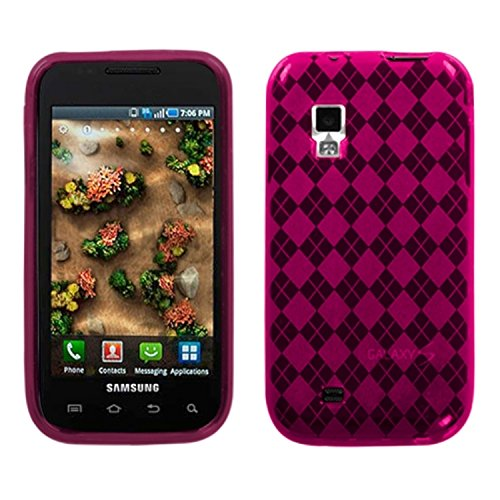 Asmyna SAMI500CASKCA089 Argyle Premium Slim and Durable Protective Cover for Samsung Fascinate/Mesmerize i500 - 1 Pack - Retail Packaging - Hot Pink