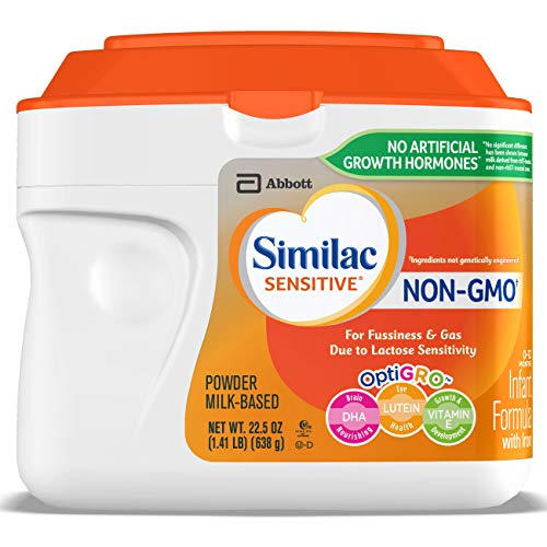Image of the Similac Sensitive Non-GMO Infant Formula with Iron, For Fussiness and Gas, Baby Formula, Powder, 1.41 lb (Pack of 6)