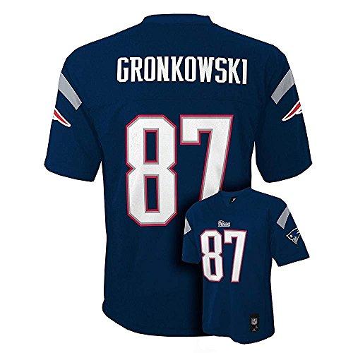 Rob Gronkowski New England Patriots Navy NFL Kids 2016-17 Se