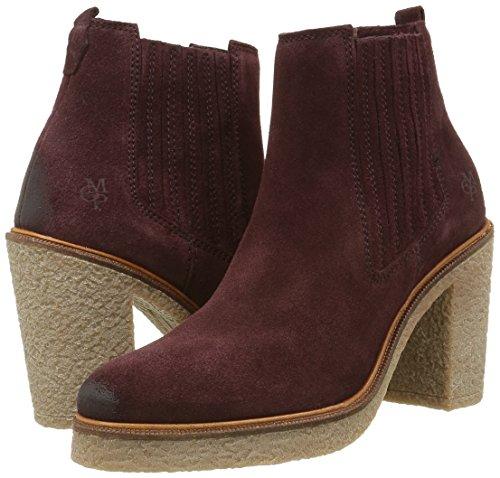 Para Botines Rot Heel 385 High wine Mujer Rojo 60813535201300 Chelsea O'polo Marc qYOxaX