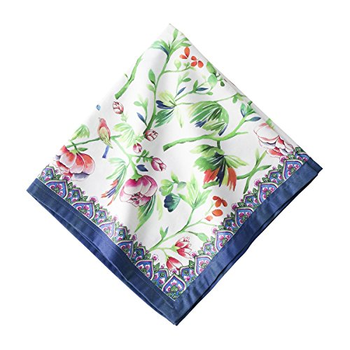 Juliska Lalana Floral 100% Cotton Sateen Napkins set/4 22