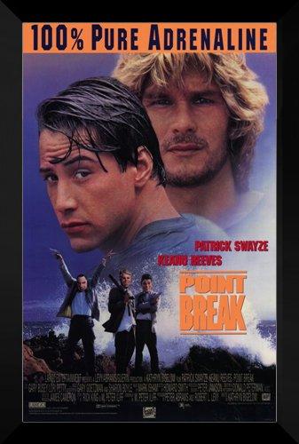 Point Break Framed Movie Poster: Patrick Swayze