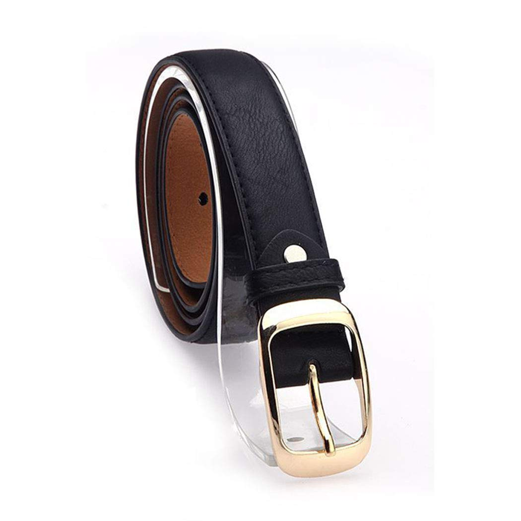 IEnkidu Women Leather Belt for Pants Dress Jeans Waist Belt with Brushed Alloy Buckle
