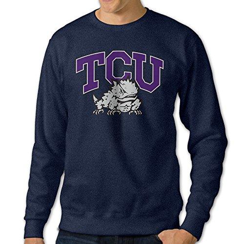 [JJVAT Men's Texas Christian University TCU Crew-Neck Sweater Size XL] (Dead Football Player Costume)
