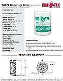 Cim-Tek 70122-12 300MB-10 Fuel Dispenser Filter, 10 Micron Phase Sep 12-pack