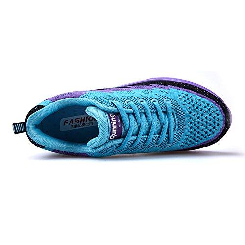 Casual Blu Sneakers Sportive 44eu Running Unisex Scarpe All'aperto Fitness Corsa Air Ginnastica 35 Interior viola Bety Da WwPZU1RqW