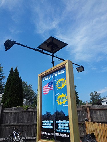 PolePalUSA Commercial Solar Billboard Light 2 (Clip On Solar Powered Lights)