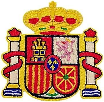 BANDERA DEL PARCHE BORDADO PARA PLANCHAR O COSER (Escudo Español ...