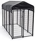 Image of Lucky Dog Heavy Duty Dog Cage Outdoor Pet Playpen – This Pet Cage is Perfect For Containing Small Dogs and Animals. Included is a Roof and Water-Resistant Cover (4'W x 8'L x 6'H)