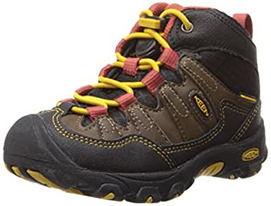 KEEN Pagosa Mid WP Hiking Shoe (Toddler/Little Kid), Cascade Brown/Tawny Olive, 8 M US Toddler