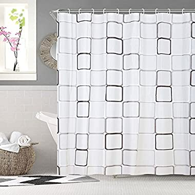 Bininbox Design Waterproof Shower Curtain, classic plaid (72-Inch by 72-Inch)