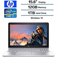 2018 HP Flagship Pavilion 15 15.6 inches Full HD IPS Laptop (1920 x 1080), 7th Gen Intel Core i7 7500U (Up to 3.5 GHz), 1TB SATA Hard Drive, 12GB DDR4 SDRAM Memory, Intel HD Graphics 620, Windows 10