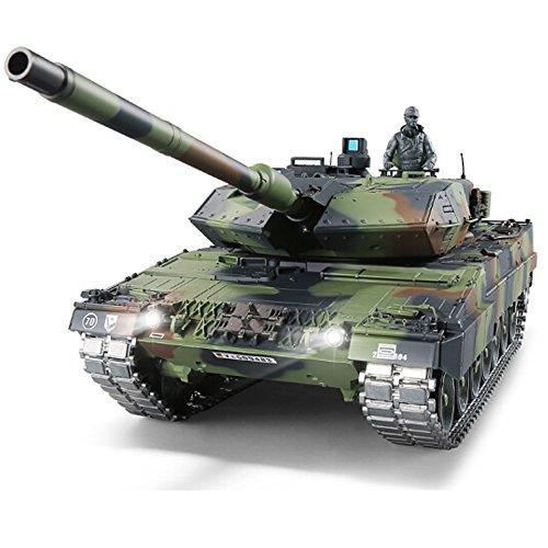 tion 1/16 2.4Ghz Remote Control German Leopard 2A6 Tank Model(Upgraded/Steel Gear Gearbox)(Upgraded/Metal Tracks &Sprocket Wheel & Idle Wheel) ()