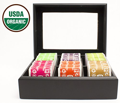 Pride Of India - Organic Herbal Tea Chest - 72 Herbal Tea Bags Assorted