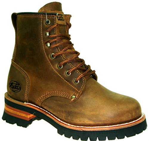 Mens Fuda Goodyaer Classic 6 Logger Boots Brown Crazy Horse Leather 692 Size 13 EaUZ4zR