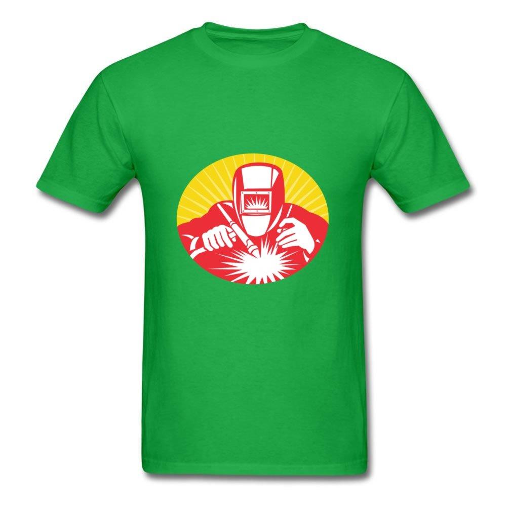 AliceaBos Hombres Diamantes Soldador Soldadura de Equipo Personalizado Caliente Gris Camiseta: Amazon.es: Libros