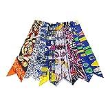 6pcs Fashion Bag Twilly Handbag Handle Ribbon Scarf Package Band Hair Head (Pattem D)