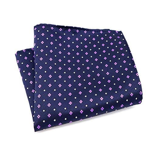 SQUARE STANDARD POCKET HANKY SPEECH WEDDING X Pattern PIECE MATCHING SET WITH Blue TWO 8cm PICKAPOCKET MATCHING 146cm HANDKERCHIEF Ditsy Purple TIE Navy With a Floral fvw4cqz