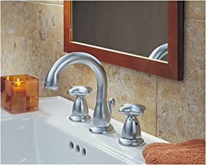 Amazon.com: Delta Faucets Closeout 3588-SSGLHP Two Handle Widespread ...