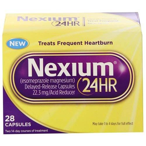 Nexium 24HR Easy Open Heartburn Relief Capsules (Pack of 24)