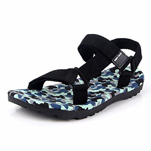 estate Roma sandali Uomini moda Il nuovo Camuffare sandali Uomini Tempo libero Spiaggia scarpa ,blu,US=9,UK=8.5,EU=42 2/3,CN=44