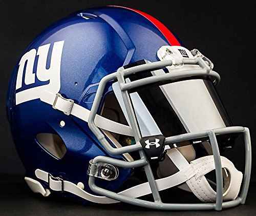 rk Giants NFL Authentic Football Helmet with Mirrored Eye Shield/Visor ()