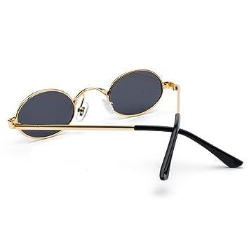 OME&QIUMEI Gafas De Sol Ovaladas Hombres Marco Pequeño ...